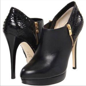 Michael Kors York Python Embossed Stiletto Booties